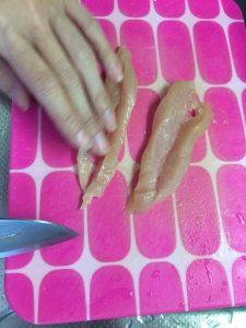 犬猫ジャーキー作り方,鳥のささみ胸肉